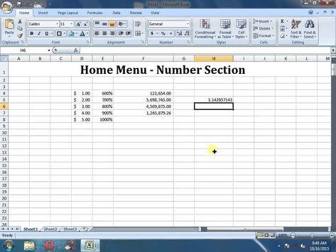 MS Excel Tutorials
