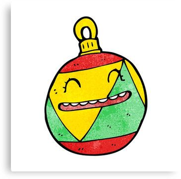 Christmas Bauble Cartoon Character Sticker By Octoberarts