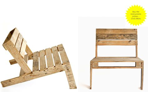 Instructions for a pallet chair via pchairlo