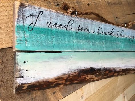 Beach Signs Beach Decor Beach Therapy Pallet Sign Etsy With
