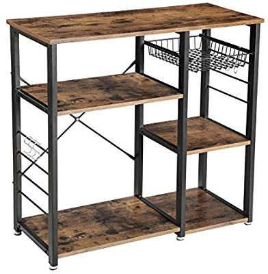 Amazon Com Vasagle Vintage Kitchen Baker S Rack Utility Storage