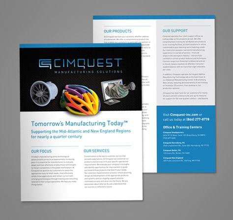 Cimquest Sell Sheet Template Design Print Graphic Design Work