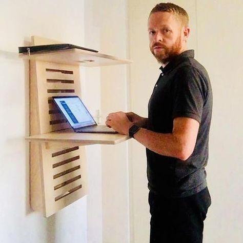 Wallstand Adjustable Wall Mounted Standing Desk Diy Standing Desk Furniture Home Office Furniture