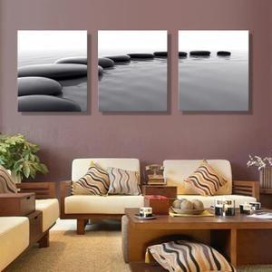 3 Pieces Art Pebbles Definition Photos Toile Impressions