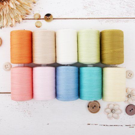 UK 10 x Cotton Sewing Thread Spools Assorted Colors New Collecion BEST PRICE