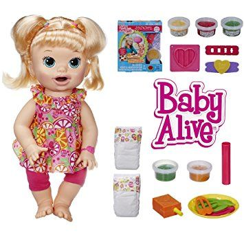 Baby Alive Ready For School Baby Blonde Style Her Rooted Hair With The Brush Includes A Book For Fun Activity With Baby She Is Wearing A Cute School Themed Baby Alive