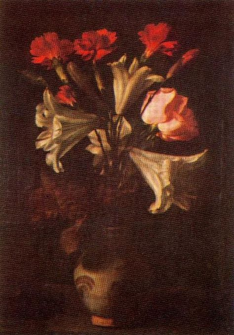 """Florero"", Oil by Francisco Zurbaran (1598-1664, Spain)"