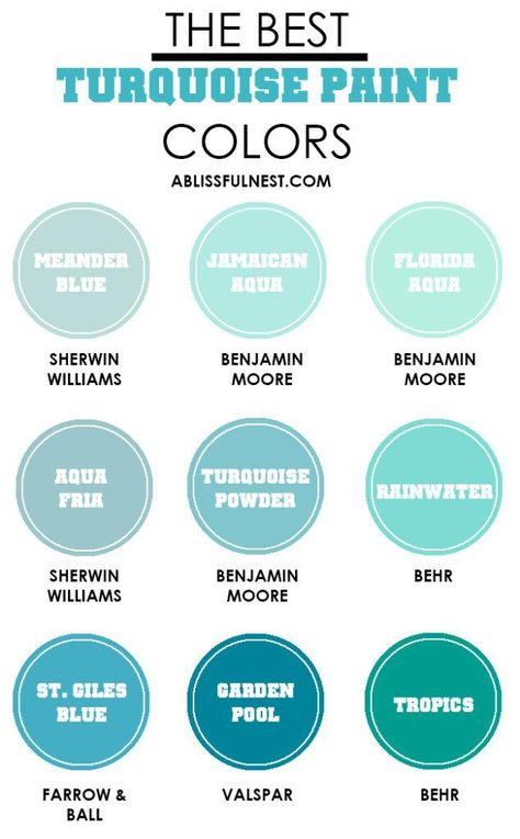 How To Decorate With Turquoise The Best Paint Colors We Create Coastal Bathroom