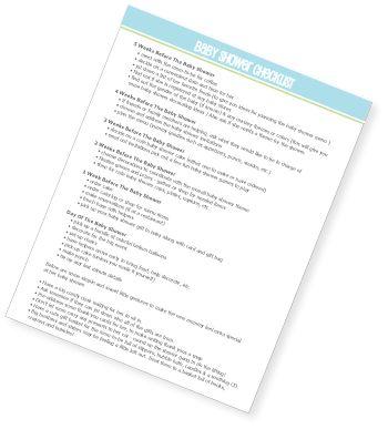 Baby Shower Checklist Free Printable  Globo Y Beb