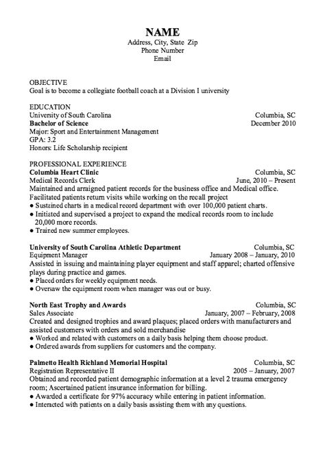 Example Of Master Sergeant Resume - http\/\/exampleresumecvorg - football equipment manager sample resume