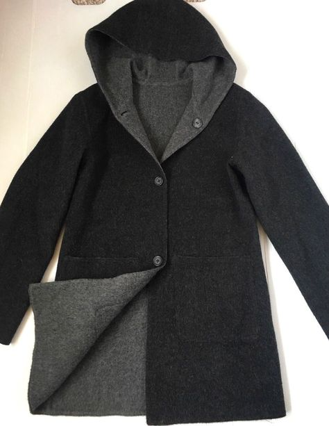 Womens Wool Blend Long Loose Coat Cloak Trench Slim Fit Hooded Fashion New B65