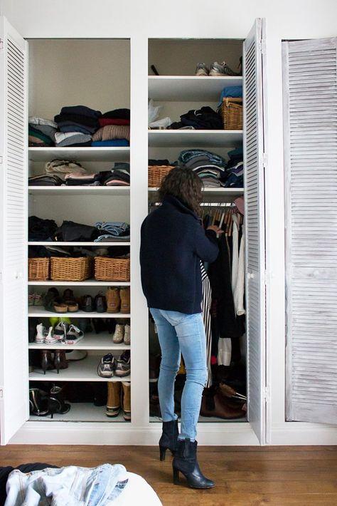 Porte De Placard Pliante Шкафы Pinterest Armoires, Closet - peinture porte et fenetre