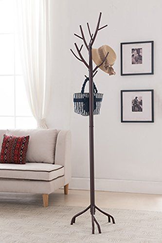 Rack Tree Hat Coat Hall Stand Brass Antique Ornate Floor Vintage Clothes Wood 689743700264 Ebay Tree Coat Rack Coat Rack Coat Stands