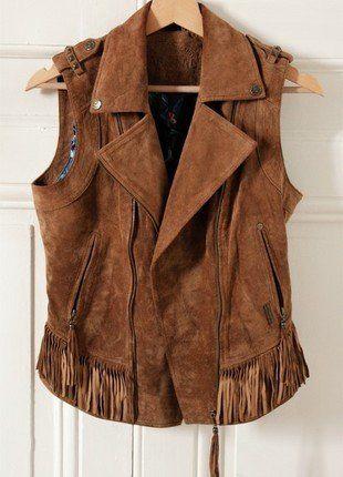 Veste cuir femme vide dressing
