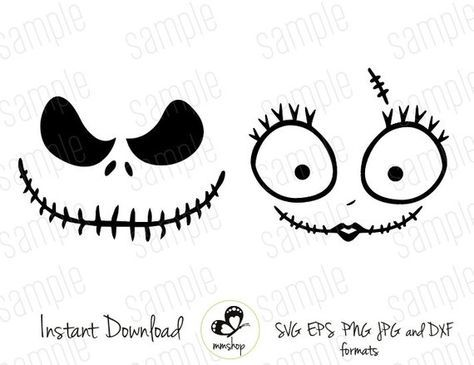 Jack And Sally Instant Download Svg Files Nightmare Before Christmas Tree Nightmare Before Christmas Ornaments Nightmare Before Christmas Halloween