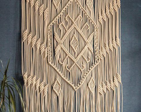 Large wall tapestry large macrame wall hanging woven wall   Etsy