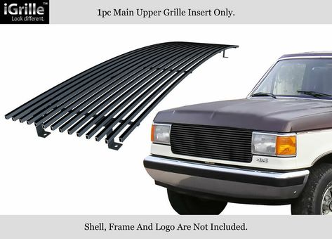 Ebay Sponsored Fits 1987 1991 Ford Bronco F 150 F250 F350 Stainless Black Billet Grille Insert Ford Bronco Grille Inserts F250