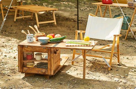 キャンプギアをdiy 便利なテーブル一体型キッチンツールボックス 2020 画像あり キャンプ用テーブル ツールボックス キャンプ