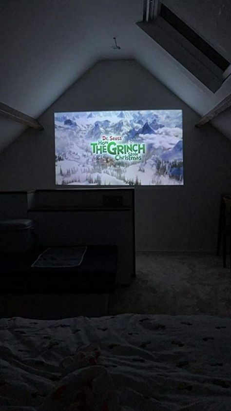It S Great To Use Goodee Yg600 Projector Watching A Movie In The