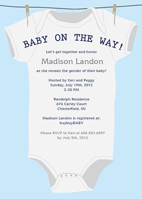 Customizable baby shower invitation template - Little Expectance