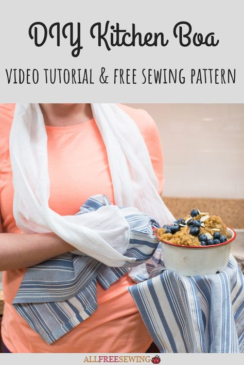 Kitchen Towel Boa NEW PATTERN ALERT! Love sewing for the kitchen? Then you need to see this amazing kitchen scarf and potholder combo project! Meet our DIY Kitchen Boa, with a full video and set of written instructions.Full Full may refer to: