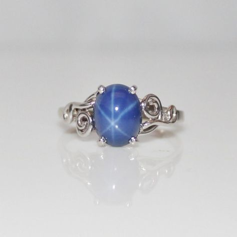 Blue Star Sapphire Ring - I'm like an 8 year old   I still