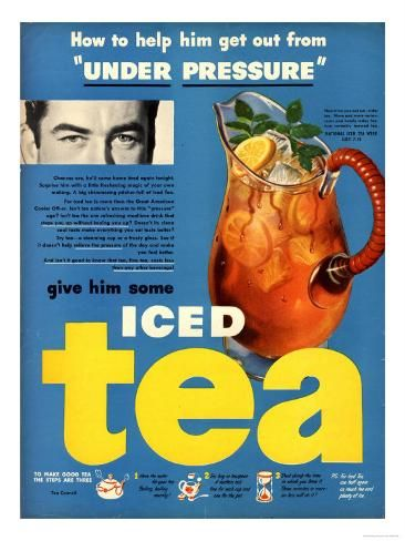 Giclee Print Iced Tea Usa Art Print 24x18in In 2021 Iced Tea Advertising Archives Tea