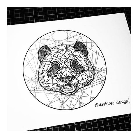 Geometric panda by @davidreesdesign . Want  a  feature? Use #iblackwork for a chance to get featured . ▶@davidreesdesign . Tag blackwork fans below and  dont  forget  to  double-tap 👌✔ . ▶@davidreesdesign . Feel  free to visit my art page @renessancedesign and personal page @rene_ssaince ✌✔ ______________________________ renessancedesign.bigcartel.com .