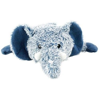 Cuddle Toss Elephant Plush Squeaks Dog Toy Blue L Boots