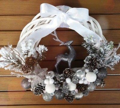 Wianek Swiateczny Stroik Na Drzwi Szybka Wysylka 6635278782 Oficjalne Archiwum Allegro Christmas Wreaths Holiday Decor Grapevine Wreath