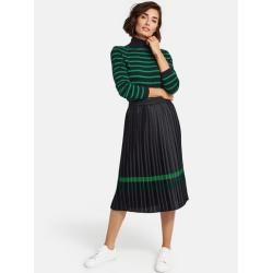 Pleated skirt with contrasting stripes blue typhoon typhoon skirt skirt skirt skirt outfit skirt for teens midi skirt
