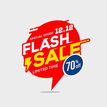 Flash Sale Banner Template Special Offer With Thunder Sale Flash Banner Png And Vector With Transparent Background For Free Download Sale Banner Badge Template Banner Template