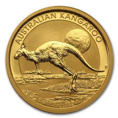 2015 Australia 1 2 Oz Gold Kangaroo Bu Tr 15176 Munten