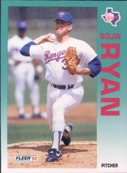 The Trading Card Database 1992 Fleer 320 Nolan Ryan Nolan Ryan Trading Card Database Baseball Players