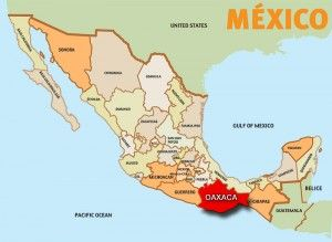 the red spot on this map is oaxaca it is located in southern mexico oaxaca has a very tropical climate it rarely goes below 64 degrees and can