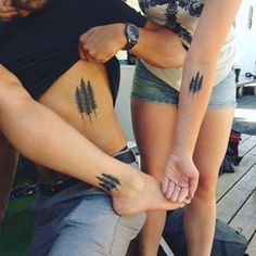 Different placements, same design. | 19 Sibling Tattoos For When There's Two Or More Of You