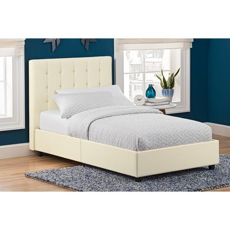Dhp Emily Upholstered Platform Bed Size Queen 4108639