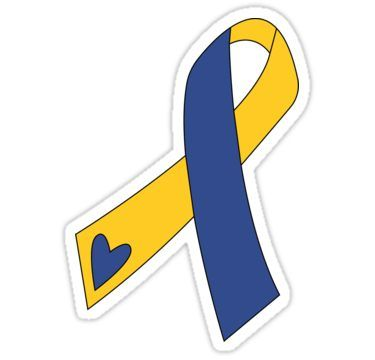 Down Syndrome Ribbon Sticker By Annacush In 2021 Down Syndrome Ribbon Down Syndrome Tattoo Down Syndrome