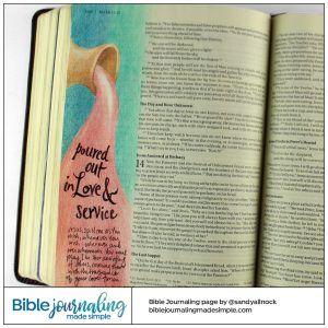 Bible Journaling Mark 14 3 Alabaster Jar Bible Journaling Bible