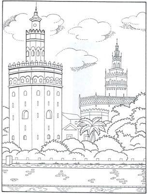 Dibujos Para Colorear Monumentos De Andalucia Dia De Andalucia Dibujos Dibujos De Karol Sevilla