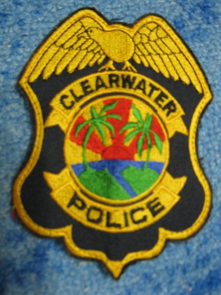 Patch Clearwater Police Department Florida Soulder Flashes Original New Police Police Department Patches For Sale