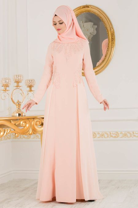 2018 Defacto Tesettur Abiye Elbise Modelleri Https Www Tesetturelbisesi Com 2018 Defacto Tesettur Abiye Elbise Mo Dresses Long Sleeve Dress High Neck Dress