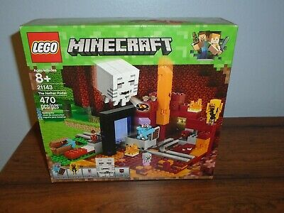 MINECRAFT THE NETHER PORTAL 21143-470 pcs Kids Toy Gift New