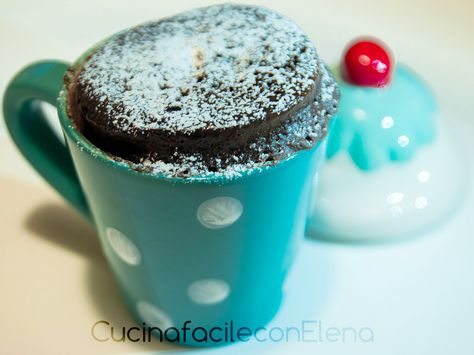 Torta al microonde in tazza   Torta pronta in soli 3 minuti!  /// cake in a cup, ready in only 3 minutes