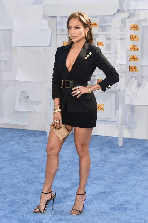 Jennifer Lopez in The 2015 MTV Movie Awards - Red Carpet