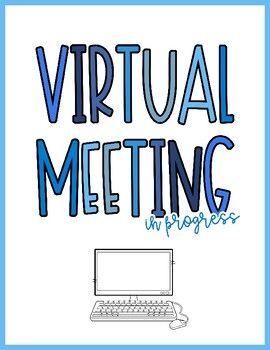 Virtual Meeting In Progress Sign In 2021 Progress Virtual Meeting