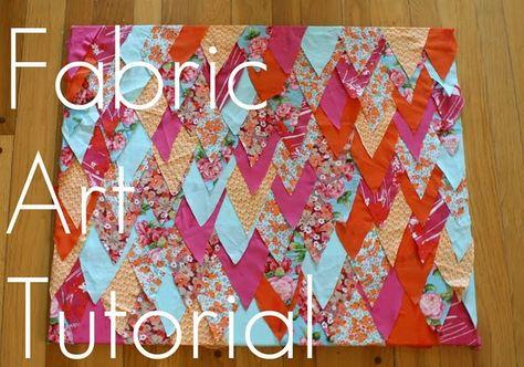 fabric art DIY by @Erin B Wilson
