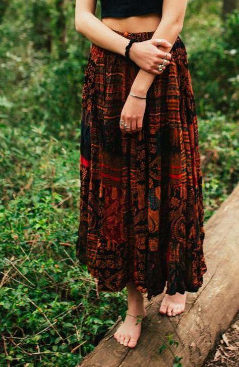 Bohemian Skirt - Hippie Patchwork Skirt A boho hippie gypsy style long maxi elephant print skirt Hippie Skirts, Bohemian Skirt, Gypsy Skirt, Hippie Dresses, Boho Skirts, Boho Dress, Hippy Dress, Bohemian Dresses, Swag Dress