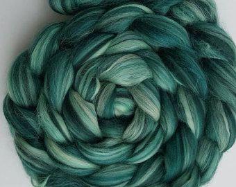 Merino Seide Wolle Kammzug Gekammt Top Wolle In Mojito Dhg 4 Unzen Yarn Dyeing Color Combos Wool Yarn