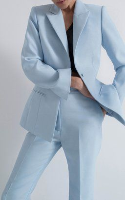Interior Color Trends 2020 Pastel Baby Blue In Interiors And Design Blue Blazer Women Cute Outfits With Shorts Baby Blue Jacket